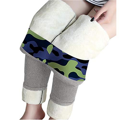 Leggings forrados de invierno para mujer, pantalones térmicos de invierno de cintura alta, leggings largos de pijama, pantalones de chándal cálidos de forro polar.