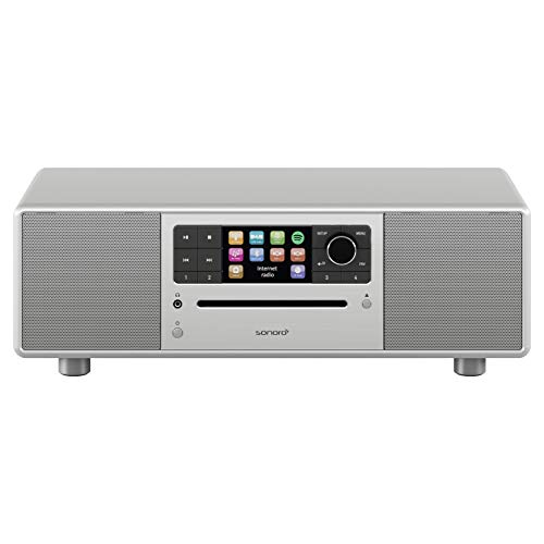 sonoro Prestige Design Kompaktanlage 2018 (FM/DAB+, CD, AUX, Bluetooth, Spotify) Silber