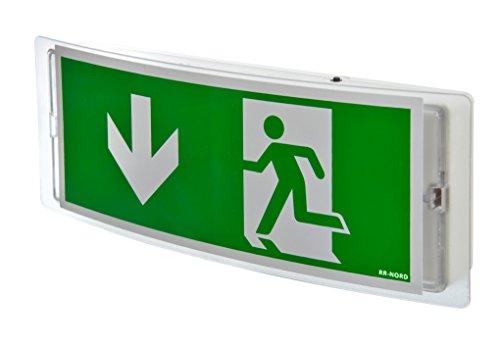 Notleuchte LED Notbeleuchtung Rettungszeichenleuchte Fluchtwegleuchte Notlicht Brandschutzzeichen Rettungszeichen (Pfeil nach unten)