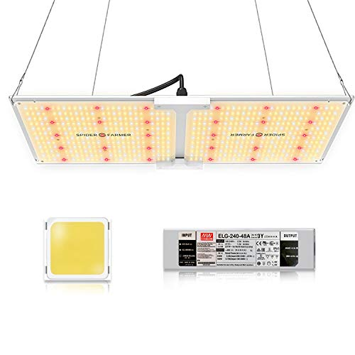 SPIDER FARMER SF-2000 LED Grow Light 2x4 ft Coverage Compatible with Samsung LM301B Diodes & MeanWell Driver Dimmable Grow Lights Full Spectrum for Indoor Hydroponic Plants Veg Bloom 606pcs LEDs