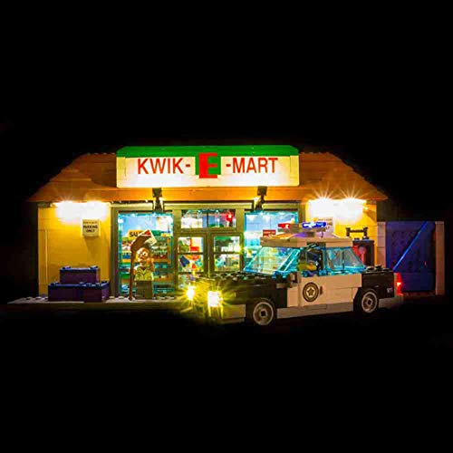 YOU339 LED Licht Set für Lego Simpson Supermarket 71016, Batteriebetriebene LED Leuchte, BAU Baustein Building Block Zubehör Toy Kit (nur LED enthalten)