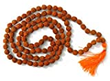 buycrafty Rudraksha Japa Mala 7mm 2pcs auténtico indio 108cuentas mano rosario para chanting Oración Meditación Mala