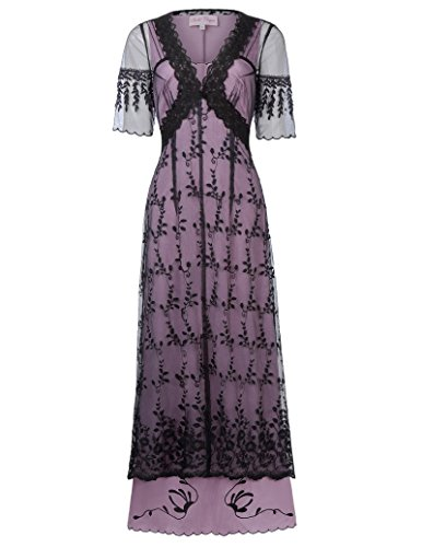 Belle Poque Victorian Edwardian Titanic Dress Renaissance Costume S Black