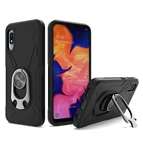 UNC Pro 2 in 1 Cell Phone Case w/Bottle Opener Kickstand for Samsung Galaxy A10E, TPU Hybrid Shockproof Bumper Anti-Scratch Dual Layer Case, Black