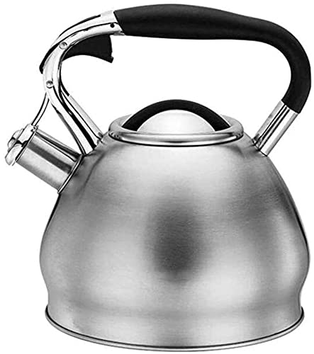 Stainless Steel Whistling Kettle Whistling Kettle for Gas Stove Retro Style Whistling Kettle Stainless Steel Kettle Tea Coffee Pot for House Hold Gas All Stovetops