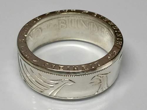 Münzring 5 Mark Silber Heiermann Silberadler Silber 625er Größe 54 bis 70 poliert