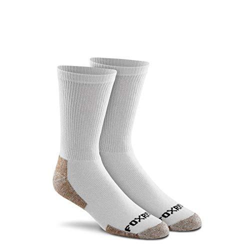 Fox River Cotton Work Crew Cut Socken (3 Paar), unisex, 6527 LG 07030 GREY, grau, L