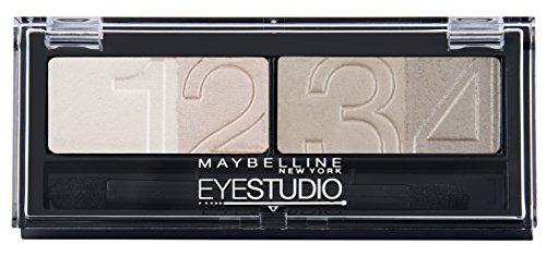 Maybelline New York Lidschatten Eyestudio Quattro Palette Nude Beige 13 / Eyeshadow Set in Beige-Rosa Nude Tönen (inkl. Präzisions-Applikator) 1 x 5 g