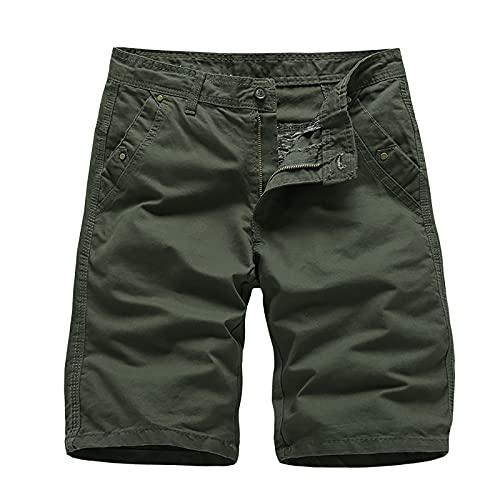 yazidan Herren Casual Work Cargo Combat Shorts Sommer Half Pant Multi-Pocket Shorts Zip Button Shorts