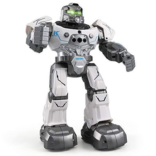 CQ Fernbedienung Roboter Smart Watch Geste Steuerung Singen Tanzen Auto Follow Kinderspielzeug,White