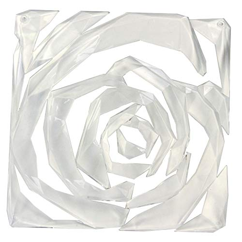 koziol Dekoelement Raumteiler Romance, 4er-Set, thermoplastischer Kunststoff, transparent klar, 0,4 x 26,9 x 27 cm