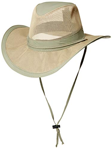 Dorfman Pacific Co. Men's  Mesh Safari Hat, Fossil, X-Large
