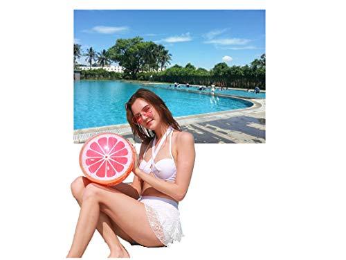 CMLLING Pelota de Playa, Pelota de Playa Inflable, Pelota de Piscina, Bola Inflable de Piscina con Forma de Fruta (2 Piezas)