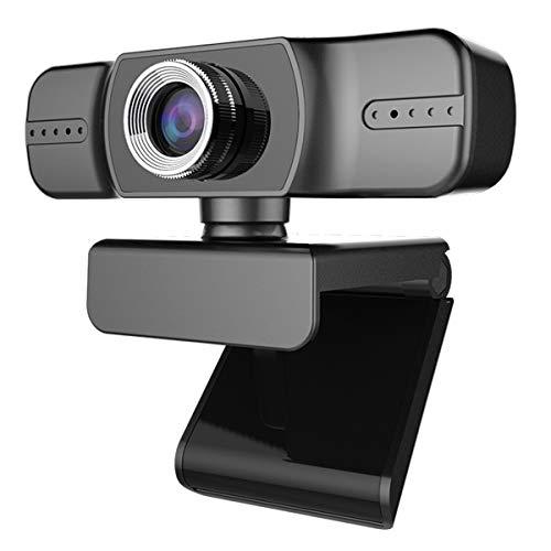 DERCLIVE Treiberfreie 1080P USB Webcam Computerkamera mit Mikrofon fur Videokonferenzen Und Videoanrufe