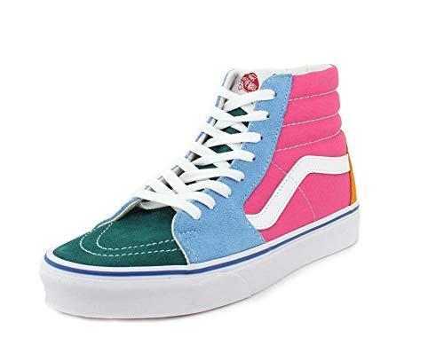 Vans Sk8 Hi Color-Block Skate Shoe (6 Women/4.5 Men, Multi/Brig Sneaker 7370)