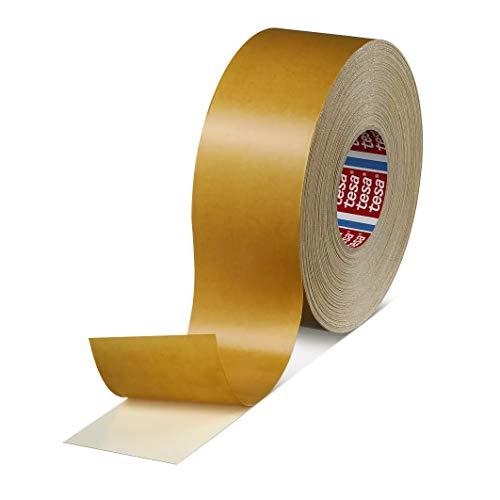 tesa fix 4964 Doppelseitiges Klebeband mit Gewebeträger, Teppich-Verlegeband   Farbe: weiss, Länge: 50 m, versch. Breiten (1 Rolle - 38 mm)
