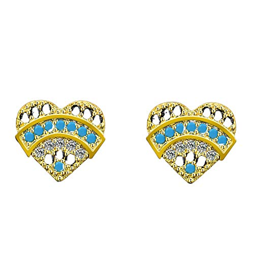 qingqingxiaowu Pendientes de Diamantes Pendientes de la Chica Sólido Pendientes Pendientes Regalo Pendientes para cumpleaños Pendientes de Moda Traviesas Pendientes Gold