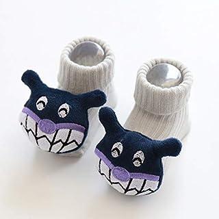 Wazi, Wazi Calcetines de la Historieta del bebé, Antideslizante/Calcetines Antideslizante for niños de Las Muchachas de algodón Calcetines de los niños (Color : Multicolor 02, tamaño : 0-6 Months)