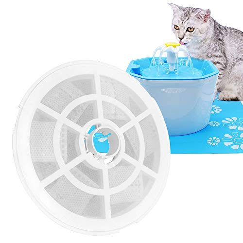 Hensych Automatische Kat Hond Water Fontein Elektrische Huisdier Drinker Bowl Dispenser,1.6L Achthoekige vorm met Super Rustige Pomp, Vervangbaar Filter en Siliconen Drinkpad, 2 pcs Filter