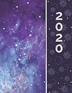 2020: Large Full Notebook Size 12 Month Planner and Organizer | Constellations in Outer Space | Sunday Start January - December Calendar