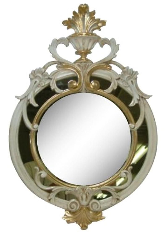 エミュレートするヨーロッパ趣味ロイヤルアーデン アンティーク調鏡 壁掛けミラー ゴールド 約36×56cm 84198