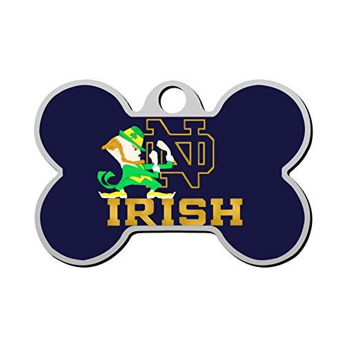 muluko sasa Notre Dame Fi-ghting Ir-ish Bone Shaped Dog Tag & Cat Tags Pet ID Tag Personalized Custom Your Pet's Name & Number 3D Printinge