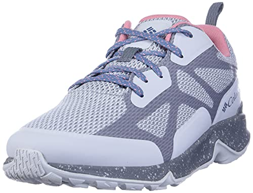 Columbia Women's Vitesse Outdry Performance Shoes, Waterproof & Breathable Hiking, Grey Ice/Canyon Rose, 9 Regular US