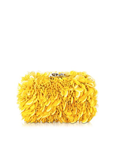 CORTO MOLTEDO WOMEN'S B4446416 YELLOW LEATHER CLUTCH