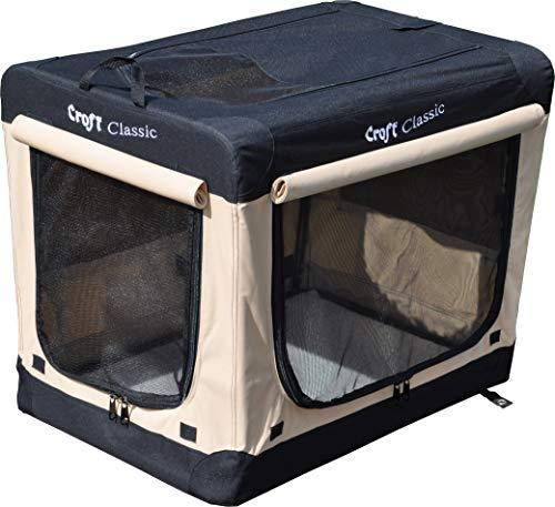 Croft Orig. engl Classic Hundebox, faltbar & verdunkelbar (CFT-77 77x53x61cm)