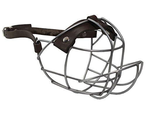 "Metal Wire Basket Dog Muzzle Boxer, Bulldog Medium. Circumference 13.5"", Length 3.5"""