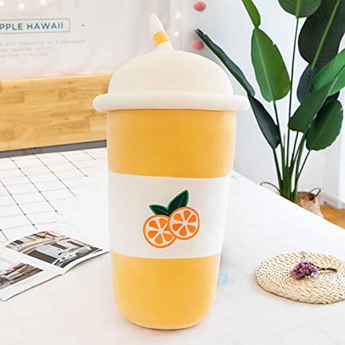 WYSTLDR Taza de té de Leche de Frutas Almohada de muñeca de Trapo de Felpa, muñeca para Dormir para niñas, muñeca Novias, Taza de té de Leche de limón Amarillo 60cm