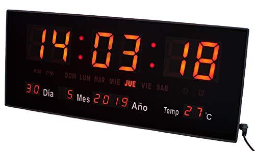 JEVX Reloj Digital de Pared y Sobremesa 2 en 1 - Mediano...