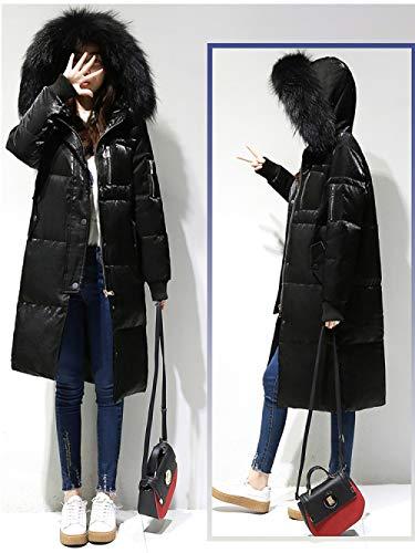 WFSDKN Dames Parka Winter donsjas vrouwen grote bontkraag met capuchon eendendons lange velours parka mantel vrouwelijk warme sneeuw bovenkleding