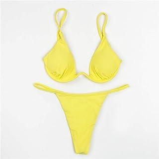 53d3707754 IYZITT 2019 Solide Maillot de Bain Femmes Sexy Micro Bikinis Maillot de Bain  brésilien Biquini Femme