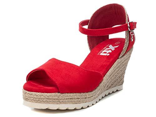 XTI Sandalen für Damen 44022 Antelina Rojo Schuhgröße 38 EU