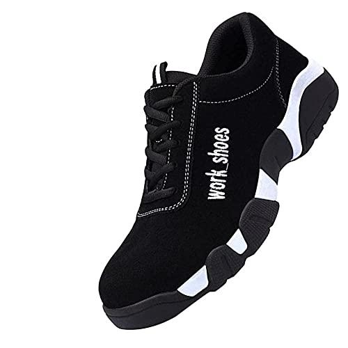 Zapatos de Seguridad de Acero,Punta de Acero Zapatos Ligero Zapatos de Trabajo Respirable Construcción Zapatos...