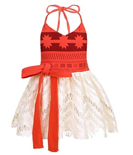 AmzBarley Moana Kostüm Kinder Mädchen Kleid Abenteuer Outfit Cosplay Kleidung Halloween Karneval Party Rock
