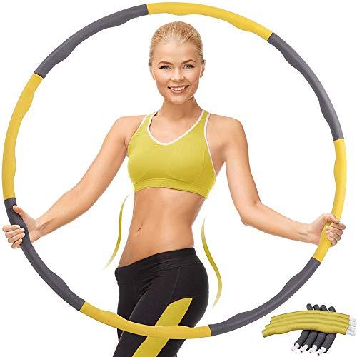 WXH-00 Fitness-Hula-Reifen-Fitness-Übungsringwelle gewichtet 0,9kg weiche und einstellbare Kinder/Erwachsene 72-95cm Geschenk (Junge Erwachsene Dame)
