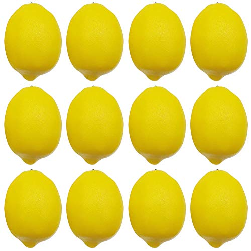 BigOtters 12pcs Artificial Lemons, 3.7