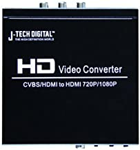 J-Tech Digital Quality PAL HDMI/Composite to NTSC HDMI 50/60 Hz Multi-System Digital Audio Video Converter - Up to 1080p/720p Upscaling Dual Voltage (110/220V Worldwide Use)