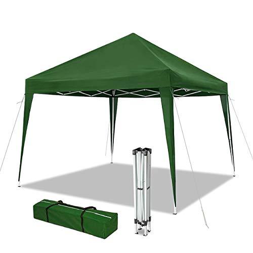 VOUNOT Cenador de jardín 3x3m Plegable | Carpa de jardín Plegable rápida para Instalar | Toldo Plegable para Camping, Festival, Playa, Jardines | Incluye Bolsa de Transporte