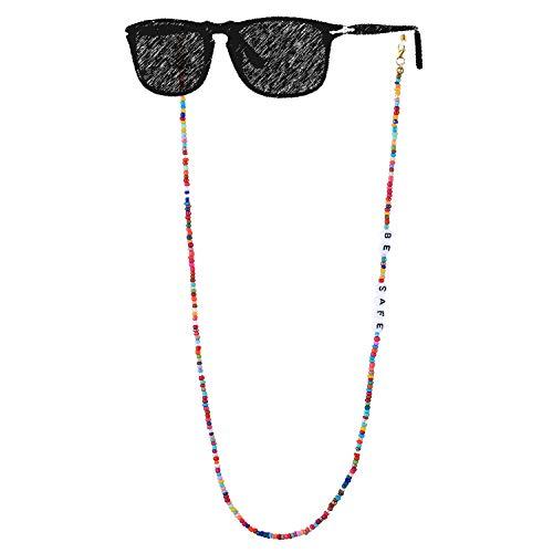 KANYEE Gafas de Sol Cordón Gafas Correa Collar con Cuentas Anteojos Cubierta Facial Retenedor Cadena Cordones Colgador Práctico para sostener Alrededor del cuello-013G
