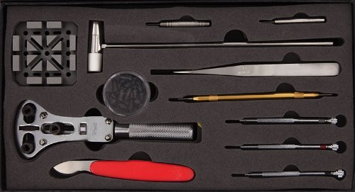 SE JT-WK1013 Juego de herramientas para reparar relojes, 13 piezas