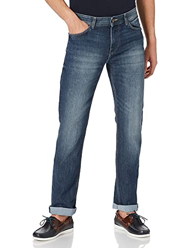 TOM TAILOR Herren Marvin Straight Jeans, Mid Stone Wash Denim 785, 34W / 34L
