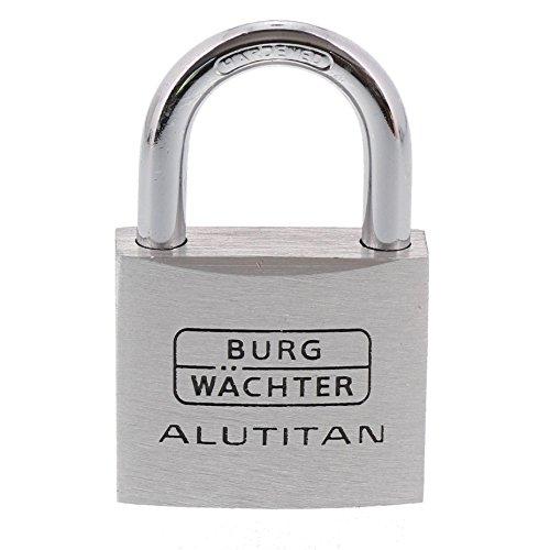 Burg Wächter Zylinder-Vorhangschloss, 6,5 mm Bügelstärke, Alutitan 770 40 SB, 40 mm