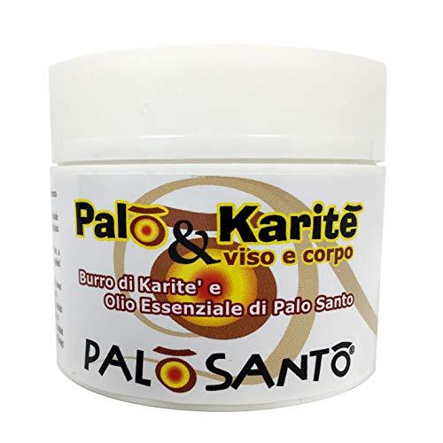 Crema Hidratante Cara y Cuerpo con Aceite Esencial Puro de Palo Santo y Manteca de Karité – Producido en Italia por laboratorios artesanos, 100% natural - sin parabenos, ni aditivos químicos