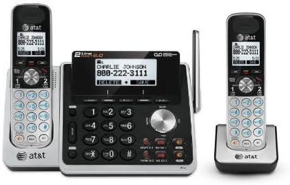 AT&T TL88102 + (1) TL88002 2 Handset Cordless Phone (2 Line) DECT 6.0