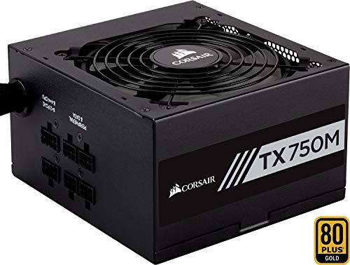 Corsair TX750M PC-Netzteil (Teil-Modulares Kabelmanagement, 80 Plus Gold, 750 Watt, EU)
