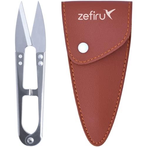 Tijeras corta hilos de costura y manualidades de acero inoxidable de 107 mm con funda protectora