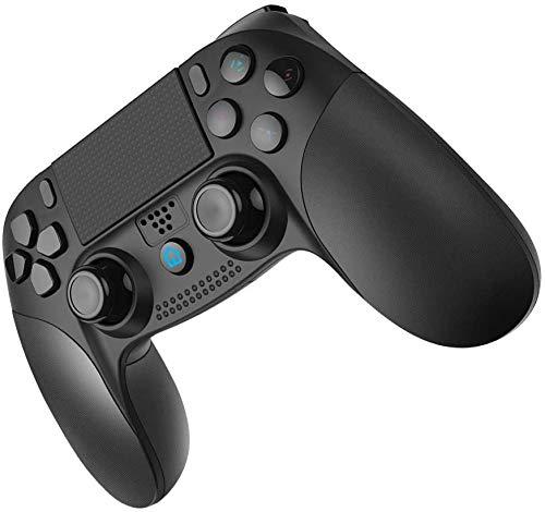 JOYSKY Wireless Controller für PS4,Bluetooth Gamepad mit Dual-Vibration Rechargable Remote sechsachsigem Dual Vibration Shock und Audio-Buchse Controller (Schwarz)